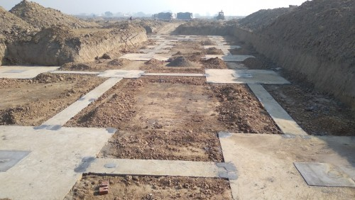 CAFETERIA & SHOPPING - Footing PCC work completed (21.12.2020)