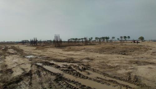 Dinning block – column casting work in completed soil filling work in progress 22.03.2021