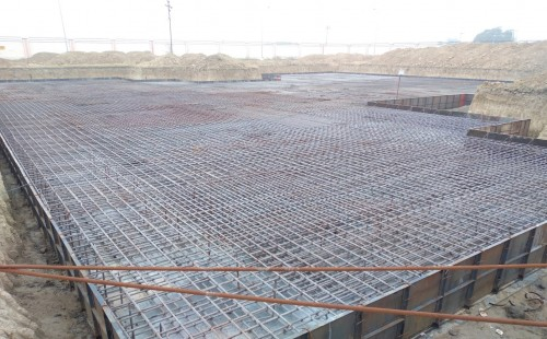 Associate Professors Residence – Raft steel placing in second layer completed - (14-12-2020)
