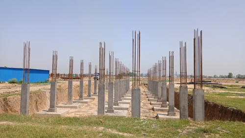 HVAC PLANT ROOM -  column casting works in completed 17.05.2021