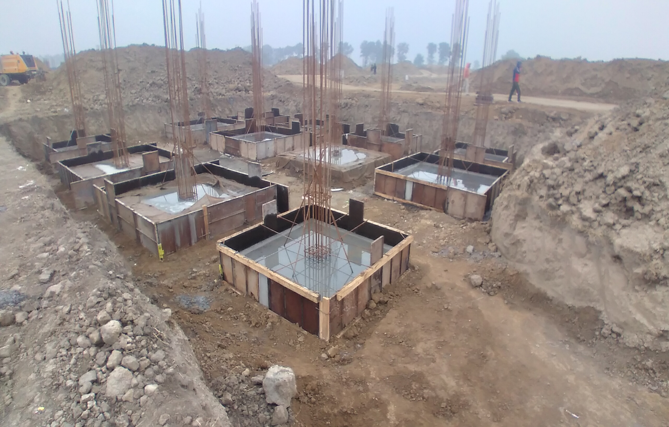 COMMAND CENTER –footing RCC work completed (28.12.2020)