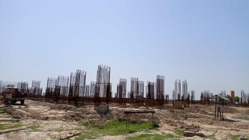 Faculty & Admin BlockFaculty & Admin block –  soil filling work in completed grade slab works in progress 17.05.2021