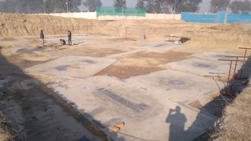 INCUBATION –Footing PCC work completed & layout in progress (21.12.2020)