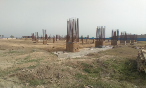 SPORTS COMPLEX – Shear wall casting work in progress column casting work in progress 15.03.2021