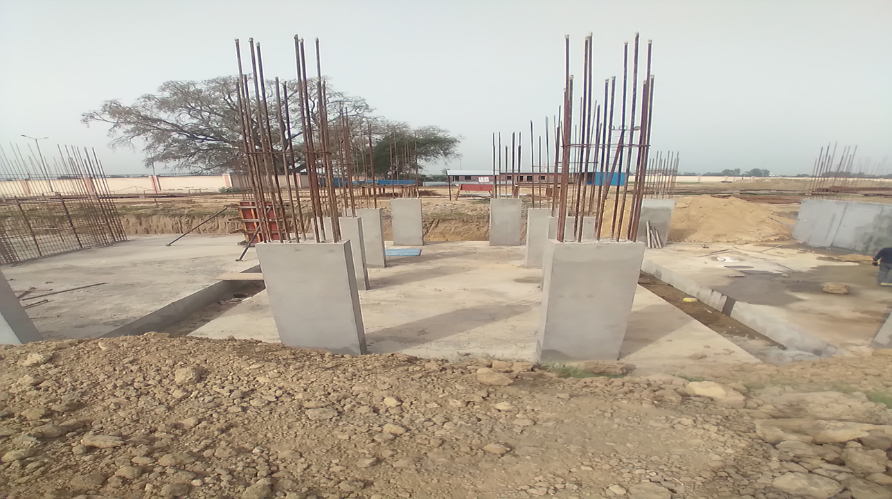 Hostel Block H4 – column casting work in Completed 15.03.2021