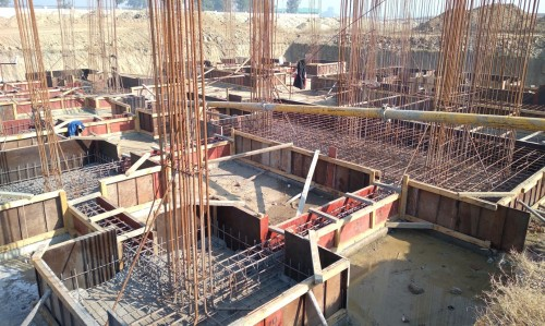 Director's residence – footing steel work in progress (21.12.2020)