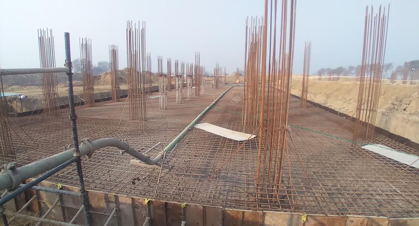 Academic block – 2nd pit RCC raft work in progress 01.02.2021