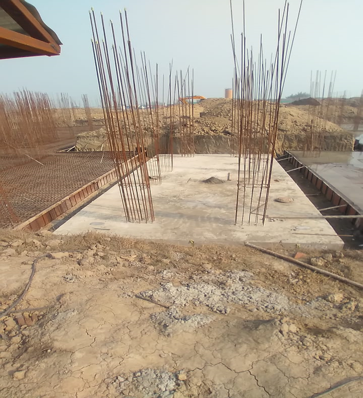Hostel Block H4 – Raft RCC work Completed 25.01.2021