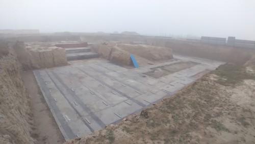AUDITORIUM  –  Footing PCC work  in progress 18.01.2021