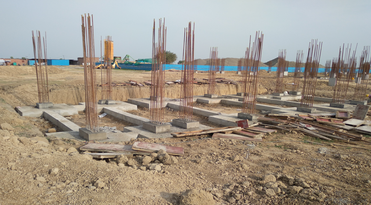 HEALTH CENTRE-  Footing RCC work and  in completed 22.03.2021