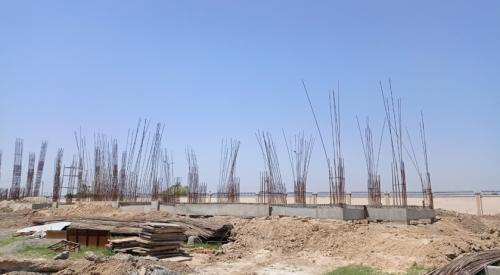 Professor's residence – Soil filling work in completed grade slab beam casting work in progress 24.05.2021