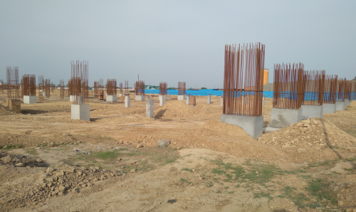 SPORTS COMPLEX – Shear wall casting work in progress column casting work in progress 22.03.2021