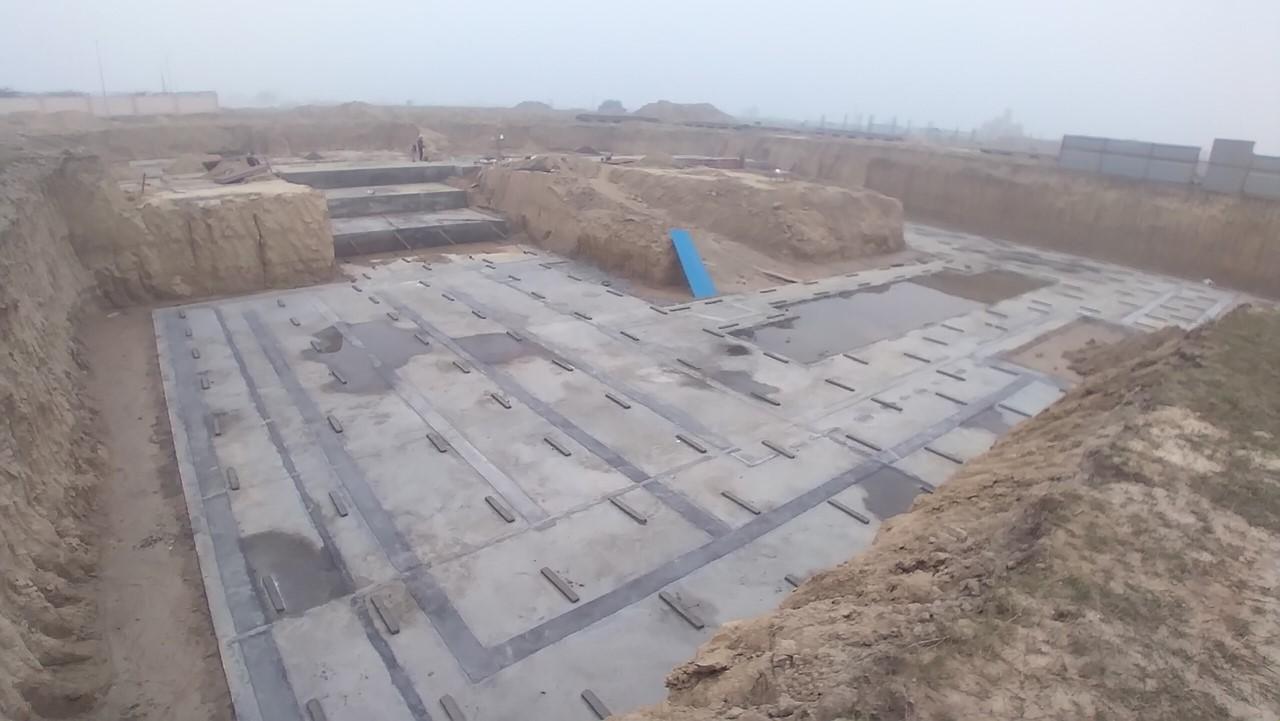 AUDITORIUM  –  Footing PCC work  in progress 11.1.2021