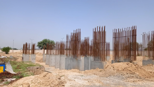 Non Teaching Staff Residence – shear wall casting work in completed 17.05.2021