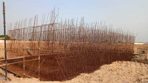 WATER TANK & Plant room  - Footing PCC work complete layout work completed steel works in completed  11.05.2021