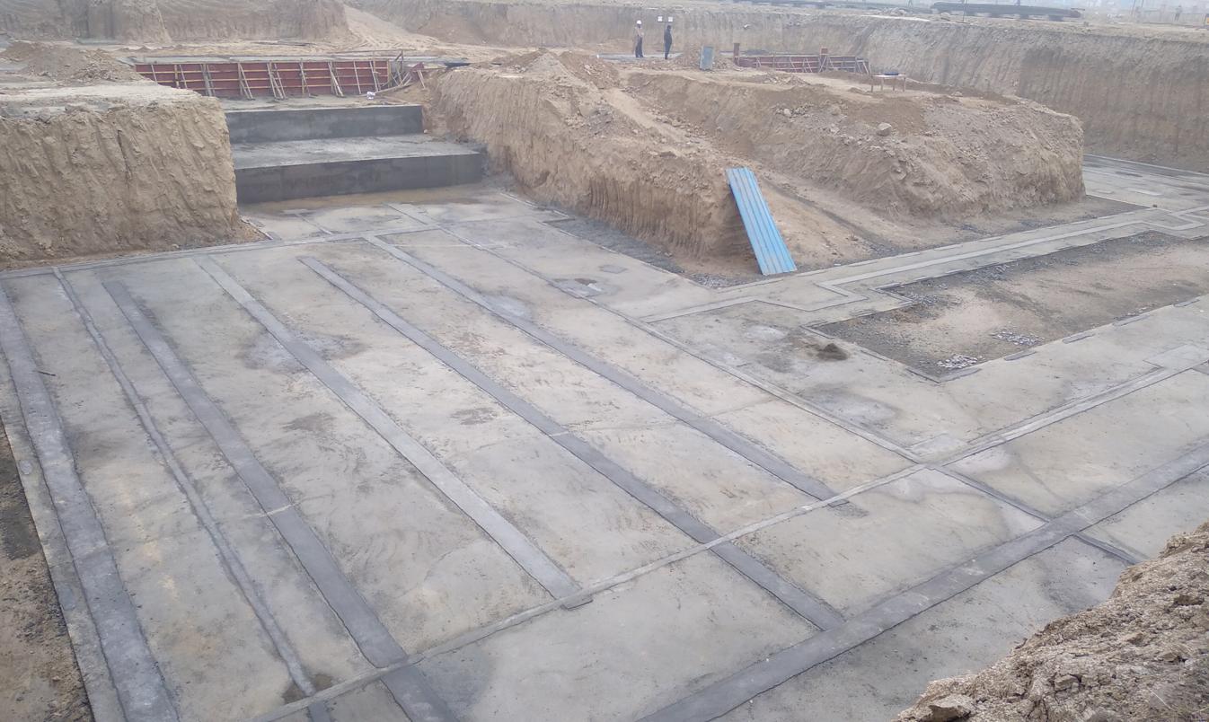 AUDITORIUM  –  Footing PCC work  in progress (28.12.2020)