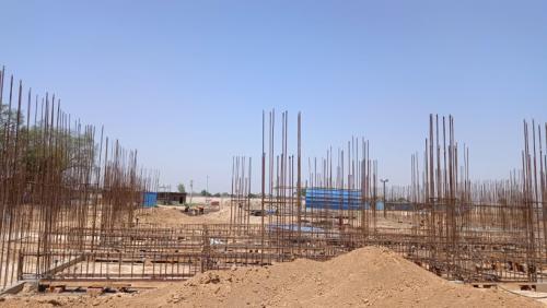 Hostel Block H6 - Soil filling work in completed grade slab beam shuttering work in progress 24.05.2021