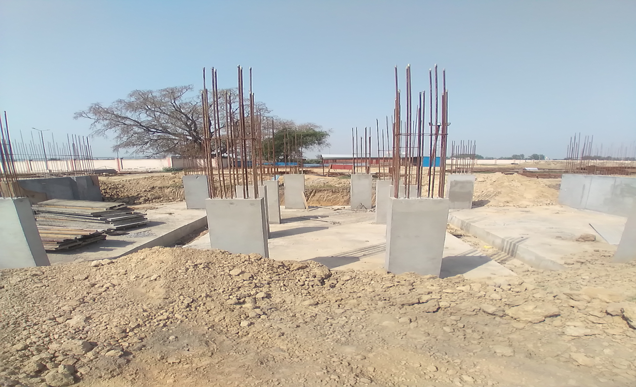 Hostel Block H4 – column casting work in Completed 30.03.2021