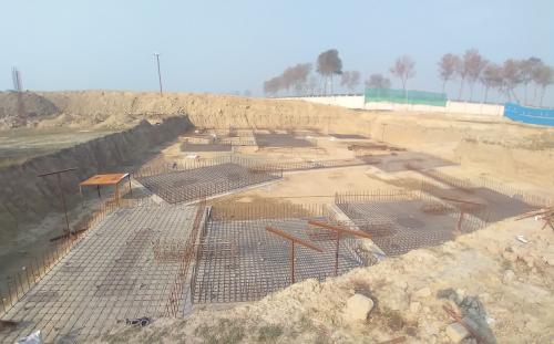 INCUBATION – Footing steel work in progress layout in progress 08.02.2021
