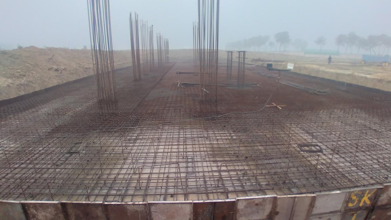 Academic block – 1st pit steel work in progress 18.01.2021