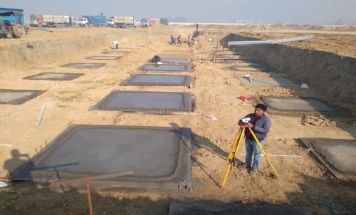 HVAC PLANT ROOM - Excavation completed, PCC in progress (01-12-2020)