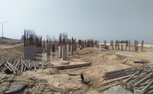 Associate Professors Residence – column casting work in completed 30.03.2021