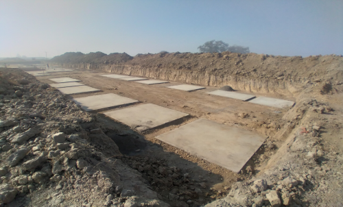 HEALTH CENTRE- Footing PCC work completed (01-12-2020)