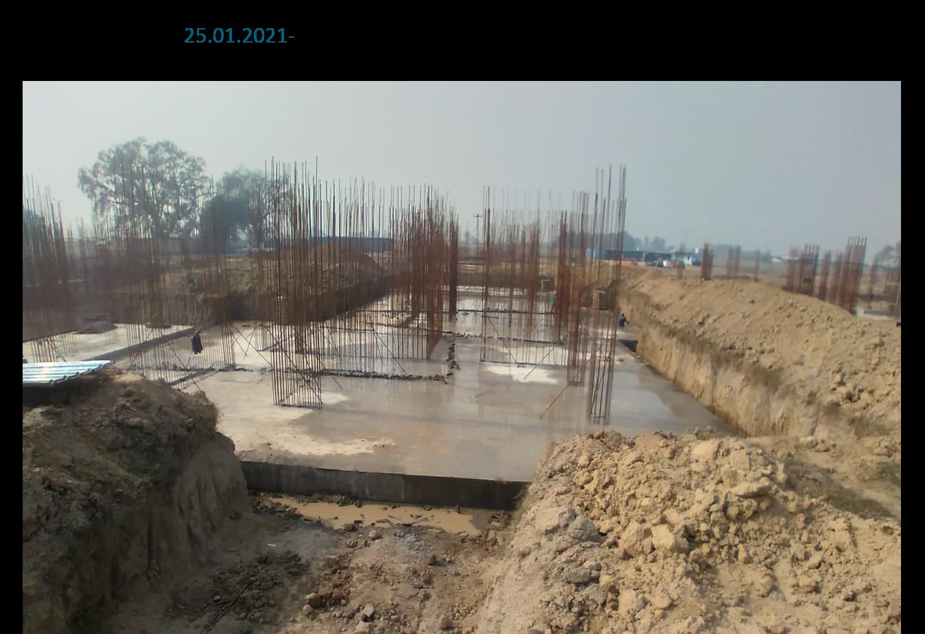 Hostel Block H7- Raft RCC work Completed 25.01.2021