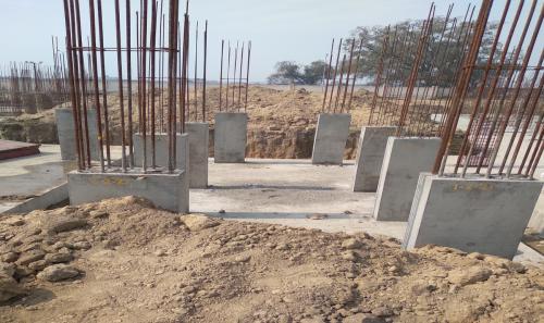 Hostel Block H2 –  column casting completed 23.02.2021