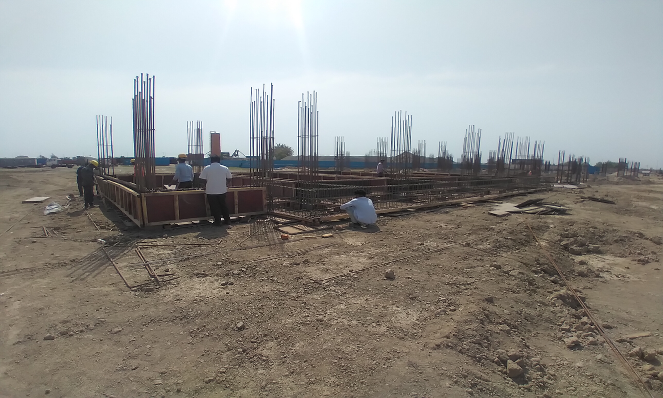 HEALTH CENTRE- column casting work in completed 12.04.2021