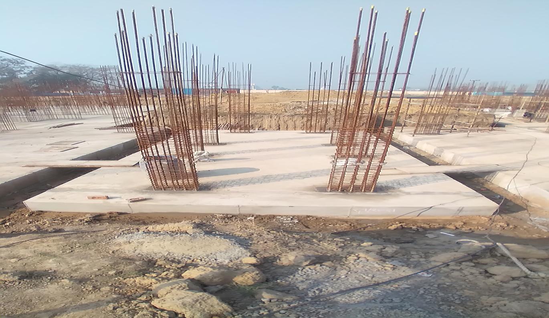 Hostel Block H6 – Raft RCC work Completed layout in progress 08.02.2021