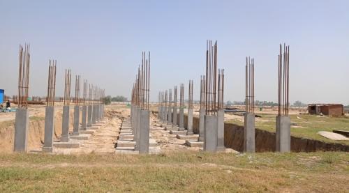 HVAC PLANT ROOM -  column casting works in completed 26.04.2021