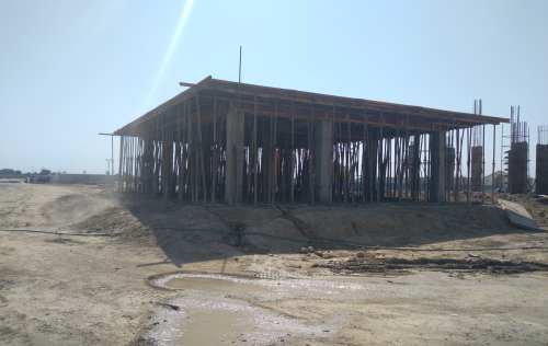 COMMAND CENTER – slab casting completed 19.04.2021
