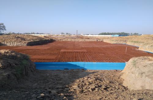 Hostel Block H7 – Steel placing & binding work – second layer work in complete (17-11-2020)