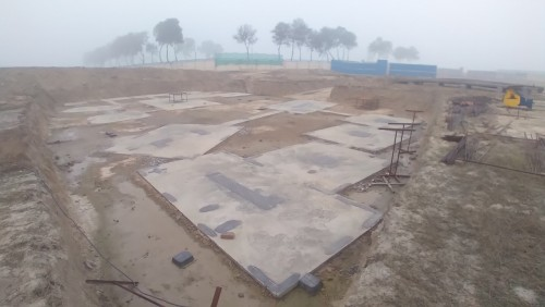 INCUBATION –Footing PCC work completed & layout in progress 18.01.2021