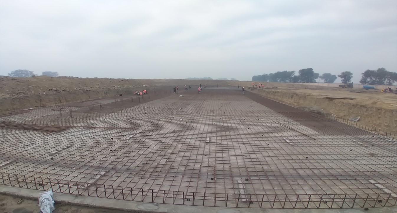 Academic block – 2nd pit steel work in progress. (23-11-2020)