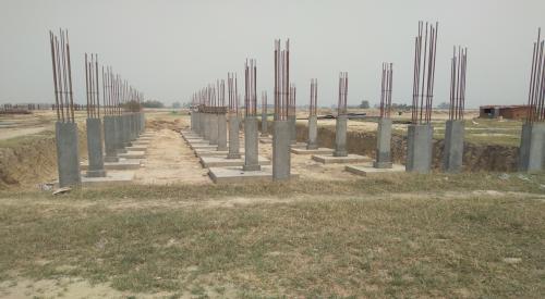 HVAC PLANT ROOM -  column casting works in completed 04.05.2021