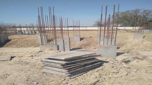 Hostel Block H2 –  column casting completed 19.04.2021