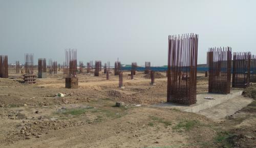SPORTS COMPLEX – layout in progress column & shear wall casting work in progress 09.03.2021