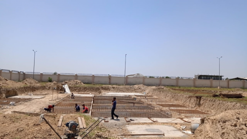 DG ROOM - Excavation in completed PCC layout in progress PCC work in completed 24.05.2021