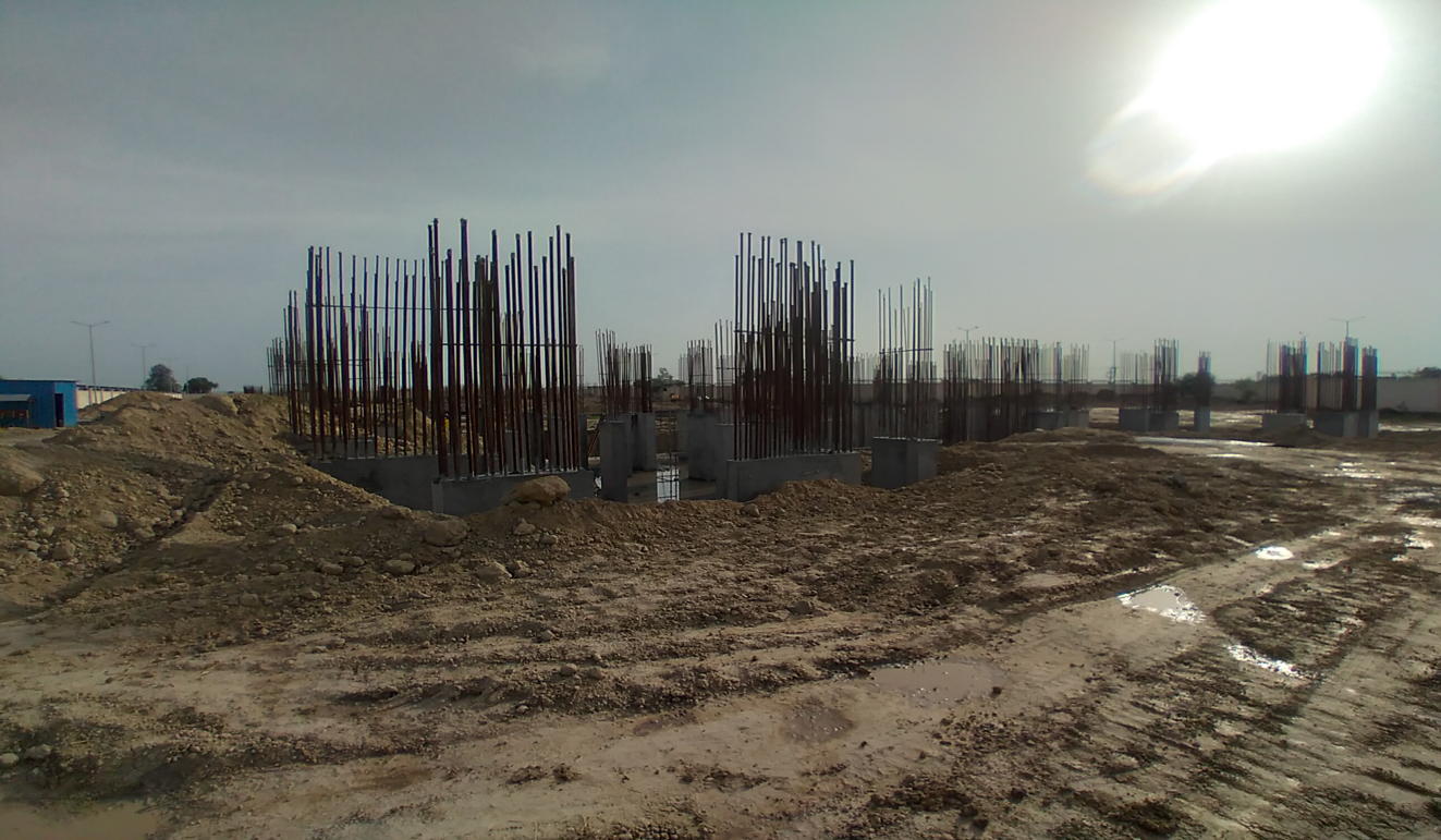 Non Teaching Staff ResidenceNon Teaching Staff Residence –  steel work in progress shear wall casting work in progress 22.03.2021