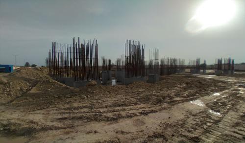 Non Teaching Staff ResidenceNon Teaching Staff Residence –  steel work in progress shear wall casting work in progress 22.03.2021
