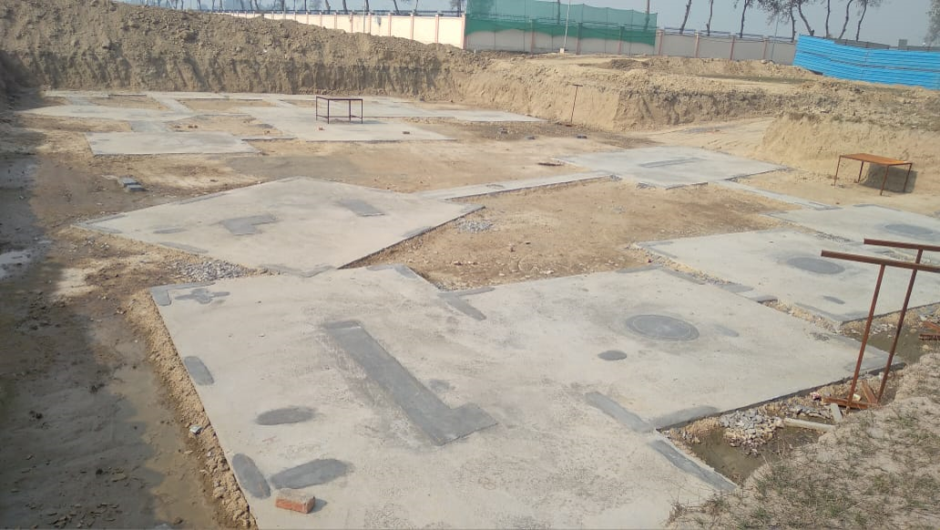 INCUBATION –Footing PCC work completed & layout in progress 25.01.2021