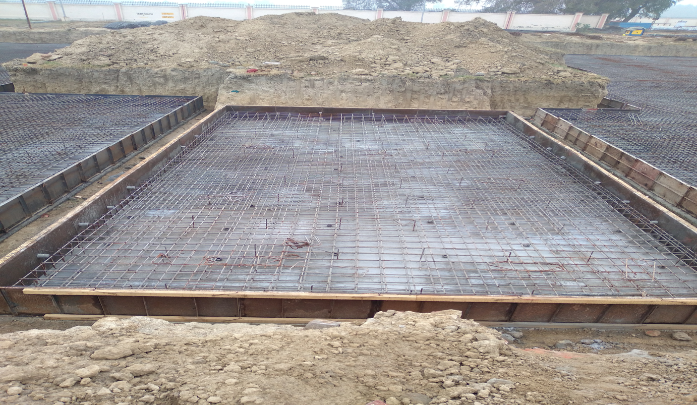 Hostel Block H2 – steel placing & binding in progress - (14-12-2020)
