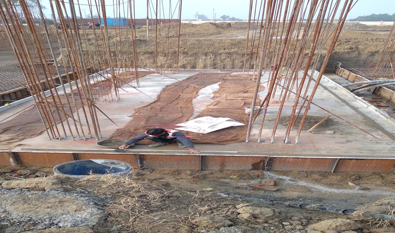 Hostel Block H6 – Raft RCC work Completed  05.01.2021
