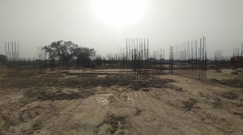 Hostel Block H5 – Column casting work in completed soil filling work in completed 11.05.2021
