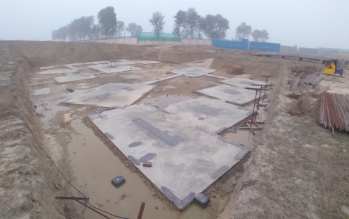 INCUBATION –Footing PCC work completed & layout in progress 11.01.2021