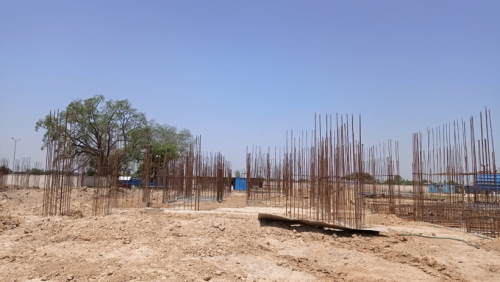 Hostel Block H5 – Column casting work in completed soil filling work in completed 24.05.2021