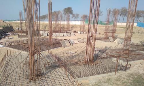 INCUBATION – Footing steel work in progress layout in progress 01.03.2021