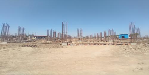 Academic block – 2nd pit soil filling work in completed grade slab works in progress 19.04.2021